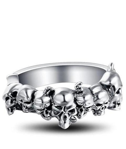 antique skull ring