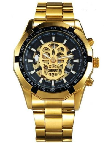 automatic skull watch