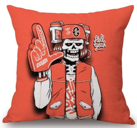 Baseball Skeleton Pillow