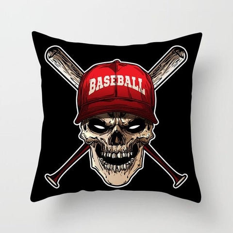 Baseball Skull Pillow