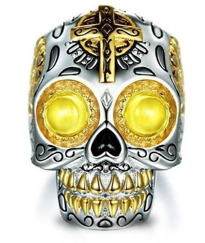 big sugar skull ring