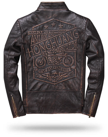Biker Leather Jacket Skull | Skull Action
