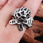 Biker Ring Set | Skull Action