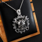 Biker Skull Necklace | Skull Action
