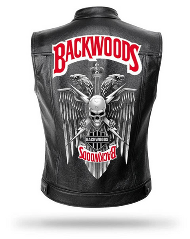 Black and Red leather motorcycle jacket