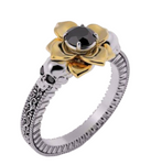black diamond lotus ring