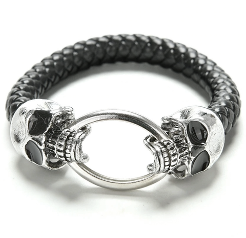 black-leather-skull-bracelet