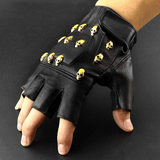Black Leather Skull Gloves | Skull Action