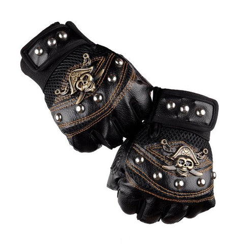 black pirate gloves