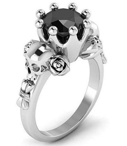 black princess crown ring