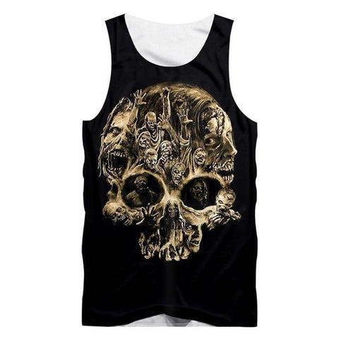 Black Tank Top With Skull