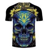 Blue Skull T Shirt | Skull Action