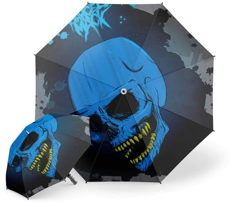Blue Skull Umbrella