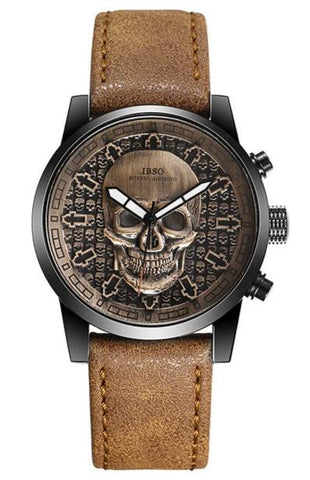 Bracelet Leather Skull Watch