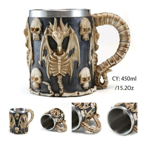 Celtic Dragon Mug | Skull Action