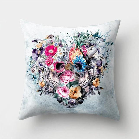 Colorful Skeleton Pillow