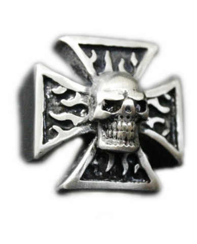 cross and skull ring