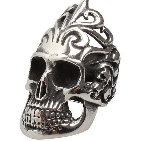 crown skull ring
