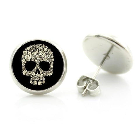 cute skull earrings