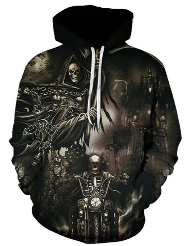 dark skull sweatshirt
