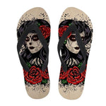 Day Of The Dead Flip Flop