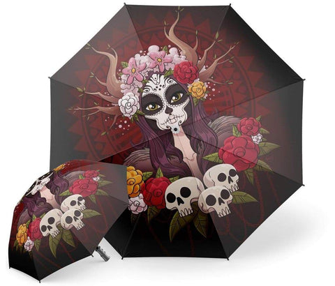 Day Of The Dead Umbrella | Skull Action