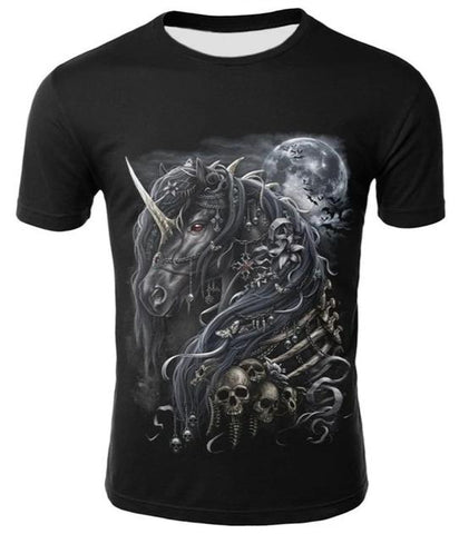 death metal shirt unicorn