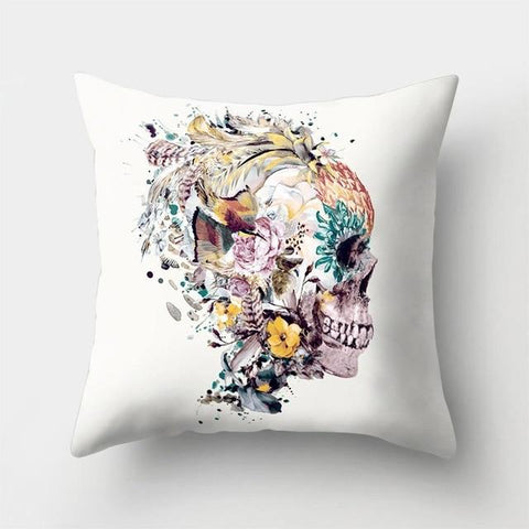 Exotic Skull Pillow
