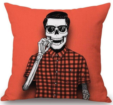 Fashion Skeleton Pillow