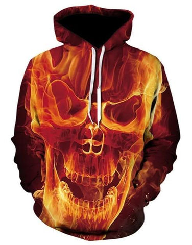 fire skull sweatshirt