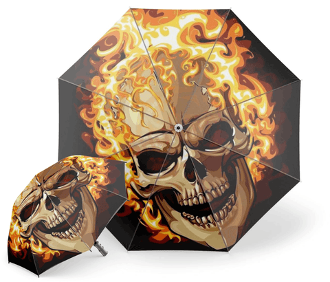 Fire Skull Umbrella