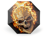 Fire Skull Umbrella | Skull Action