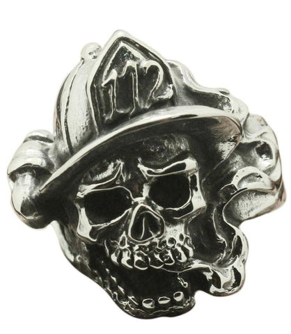 Firefighter Skull Ring