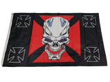 Flag With Maltese Cross | Skull Action
