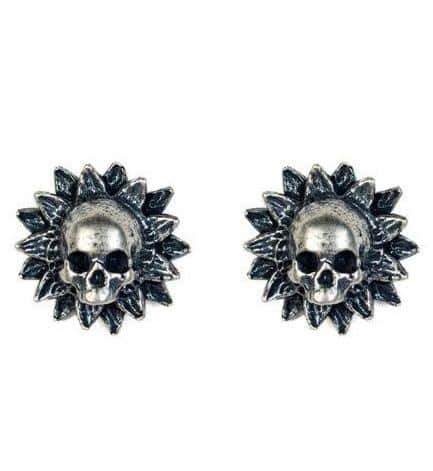 Floral Skull Earrings