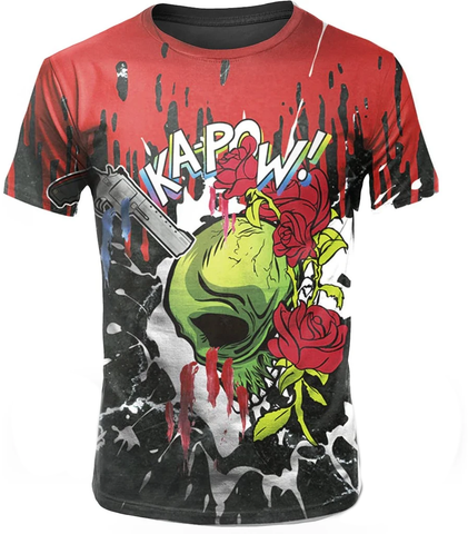 Flower Skull T Shirt Design