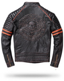 Flying Skull Leather Jacket