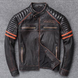 Flying Skull Leather Jacket | Skull Action