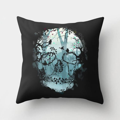 Forest Skull Pillow
