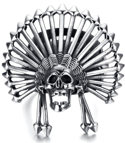 freedom or death skull ring