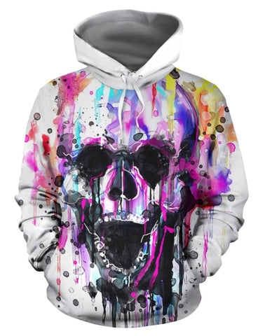 Skull Sweatshirt Colorful Painting