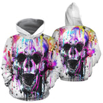 Skull Sweatshirt Painting