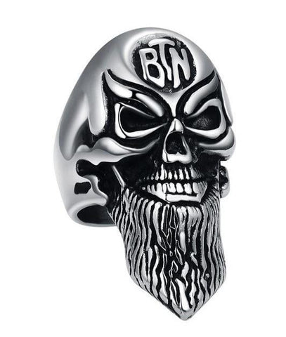 Gentleman Beard Skull Ring