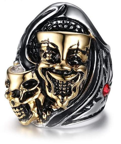 gold joker ring