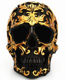 gold skull decor