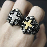 Gothic Cross Ring | Skull Action