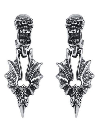 Gothic Dragon Earring