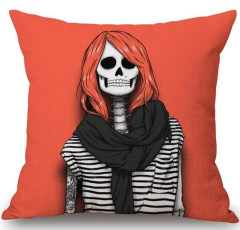 Gothic Skeleton Pillow