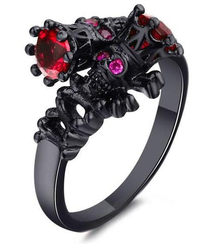 gothic skull engagement rings