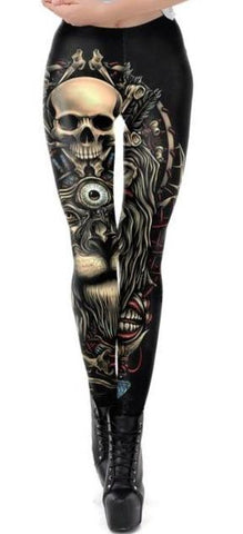 Gothic Skull Leggings | Skull Action